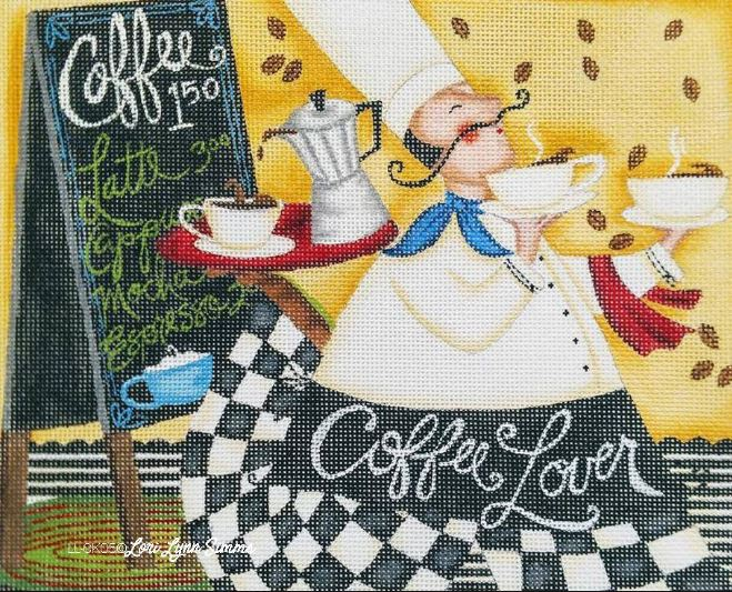 click here to view larger image of Coffee Lover (hand painted canvases)