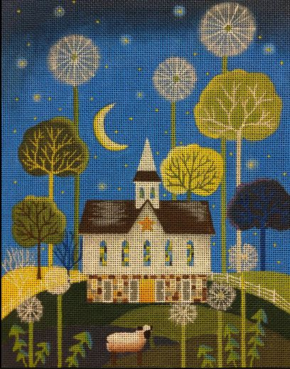 click here to view larger image of Shepherds Chapel (hand painted canvases)
