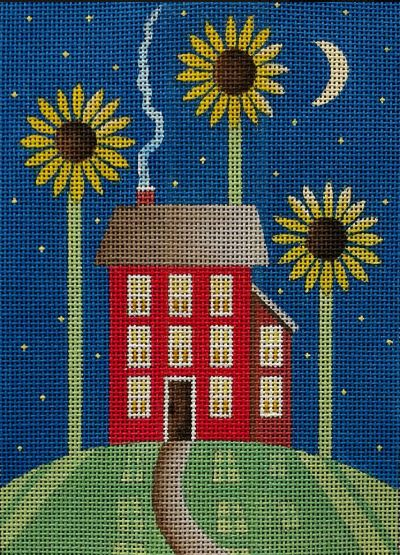click here to view larger image of Little Sunflower House (hand painted canvases)