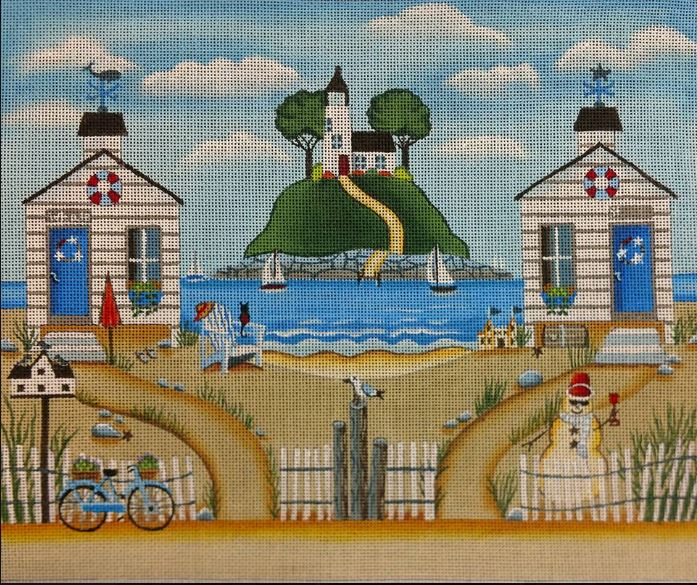 click here to view larger image of Coastal Cottages (hand painted canvases)