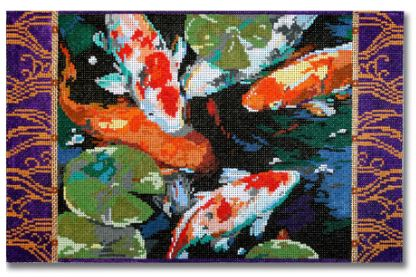 click here to view larger image of Asian Coy Fish (hand painted canvases)