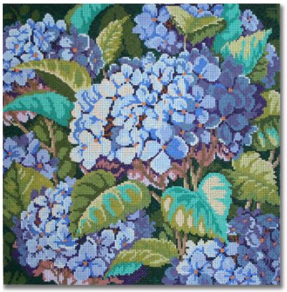 click here to view larger image of Blue Hydrangea (hand painted canvases)