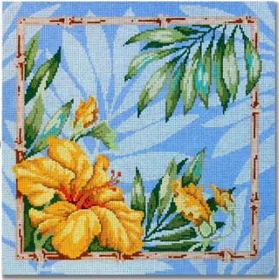 click here to view larger image of Hawaiian Hibiscus  (hand painted canvases)