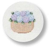 click here to view larger image of Nantucket Basket with Hydrangeas (hand painted canvases)