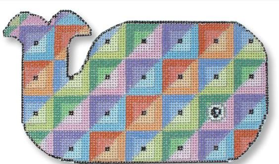 click here to view larger image of Quilt  - Whale Shape  (hand painted canvases)
