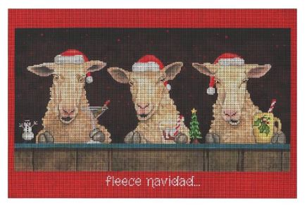 click here to view larger image of Fleece Navidad (hand painted canvases)
