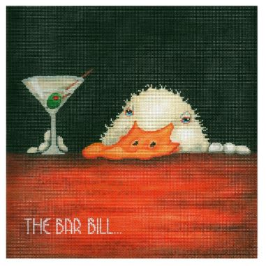 click here to view larger image of Bar Bill, The (hand painted canvases)