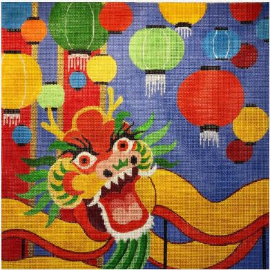 click here to view larger image of Chinese Dragon (hand painted canvases)