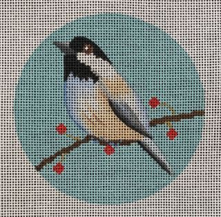 click here to view larger image of Chickadee Ornament (hand painted canvases)