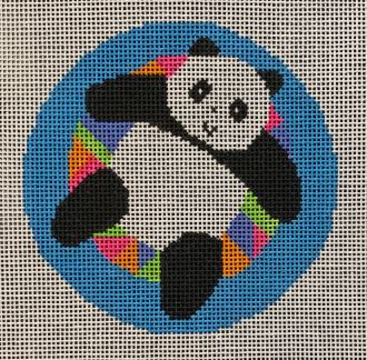 click here to view larger image of Panda on Floatie Ornament (hand painted canvases)