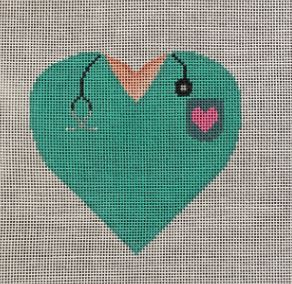 click here to view larger image of Nurse/Doctor Heart (hand painted canvases)