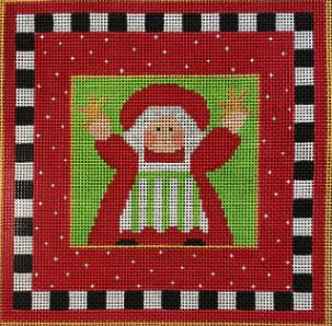 click here to view larger image of Happy Mrs Claus (hand painted canvases)