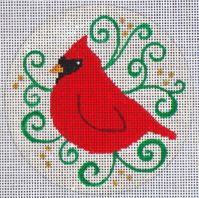 click here to view larger image of Cardinal Silhouette (hand painted canvases)