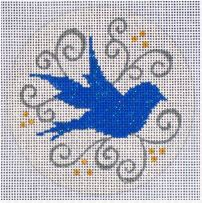 click here to view larger image of Bluebird Silhouette (hand painted canvases)