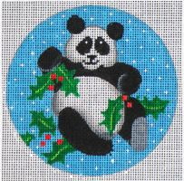 click here to view larger image of Panda w/Holly (hand painted canvases)