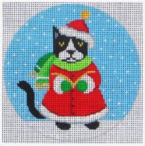click here to view larger image of Caroling Cat (hand painted canvases)