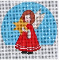 click here to view larger image of Angel w/Star (hand painted canvases)