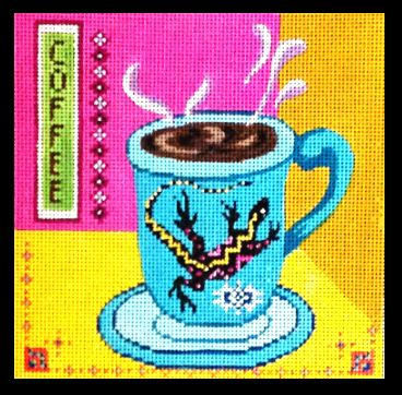 click here to view larger image of Coffee Cup - Lizard (hand painted canvases)
