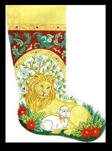 click here to view larger image of Lion and the Lamb, The (hand painted canvases)