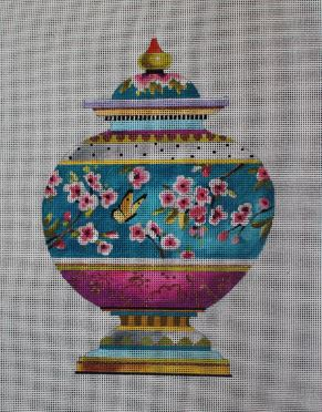 click here to view larger image of Japanese Cherry Blossom Vase (hand painted canvases)