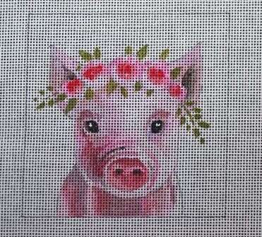 click here to view larger image of Insert - Baby Pig (hand painted canvases)