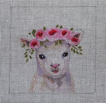 click here to view larger image of Insert - Baby Lamb (hand painted canvases)