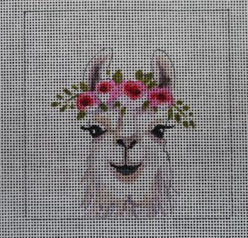 click here to view larger image of Insert - Baby Llama (hand painted canvases)
