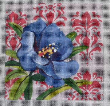 click here to view larger image of Insert - Blue Hibiscus (hand painted canvases)