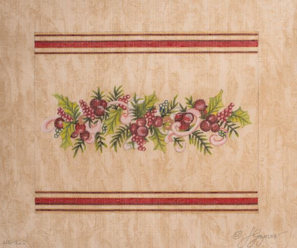 click here to view larger image of Berries/Ribbon (hand painted canvases)