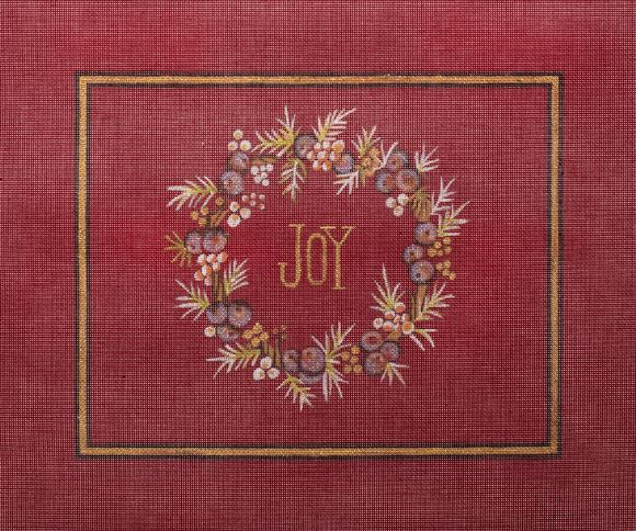 click here to view larger image of Joy Wreath (hand painted canvases)