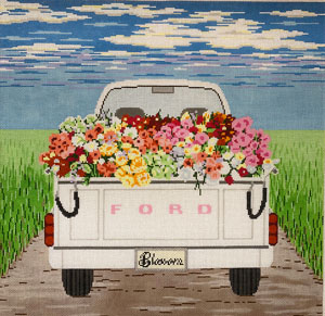 click here to view larger image of Blossom Truckfull  (hand painted canvases)