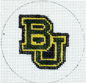 click here to view larger image of Flask - Baylor University (hand painted canvases)