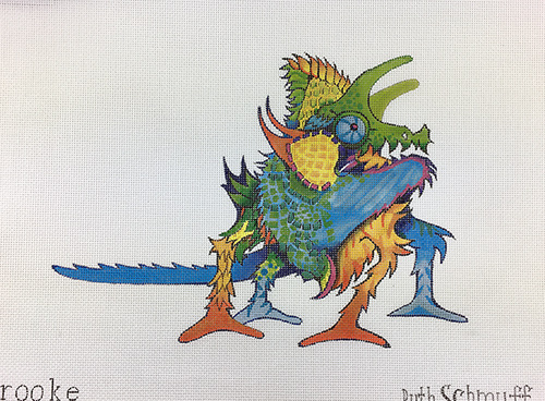 click here to view larger image of Lizard Maureen (hand painted canvases)