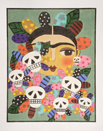click here to view larger image of Las Flores de Muerte (hand painted canvases)