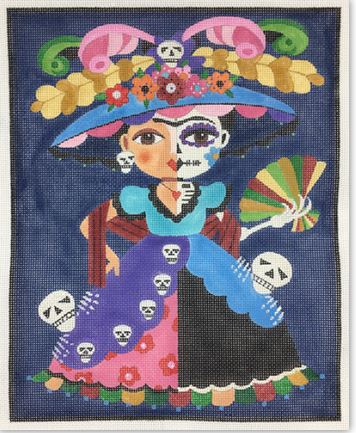 click here to view larger image of Frida Dia De Los Muertos (hand painted canvases)