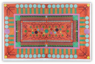 click here to view larger image of Magic Carpet - 13M (hand painted canvases)