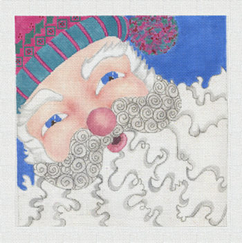 click here to view larger image of Santa Up Close (hand painted canvases)