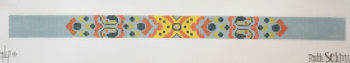 click here to view larger image of Gray Dog Collar (hand painted canvases)