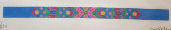 click here to view larger image of Aqua Dog Collar (hand painted canvases)