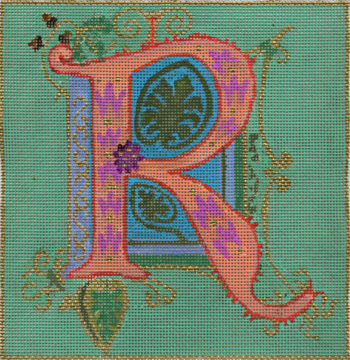 click here to view larger image of Alphabet - R (hand painted canvases)