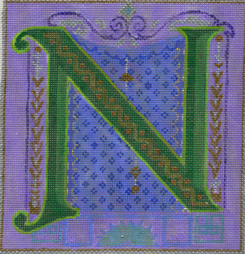 click here to view larger image of Alphabet - N (hand painted canvases)