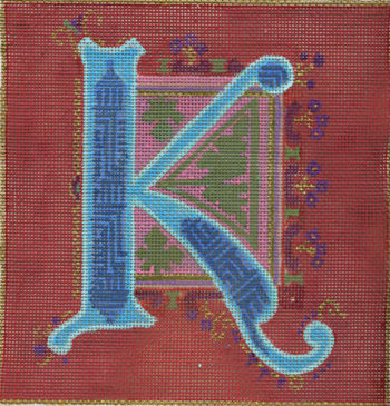 click here to view larger image of Alphabet - K (hand painted canvases)