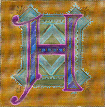 click here to view larger image of Alphabet - H (hand painted canvases)