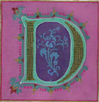 click here to view larger image of Alphabet - D (hand painted canvases)