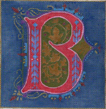 click here to view larger image of Alphabet - B (hand painted canvases)