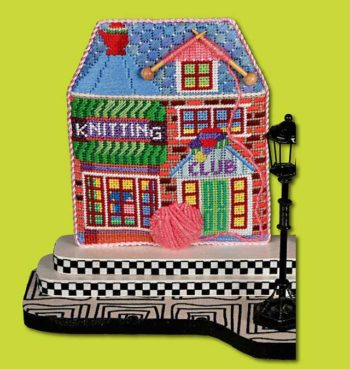 click here to view larger image of Knit Shop (hand painted canvases)