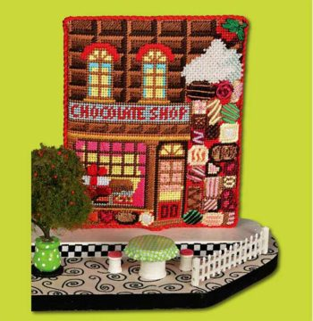 click here to view larger image of Chocolate Shop (hand painted canvases)