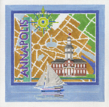 click here to view larger image of Annapolis (hand painted canvases)