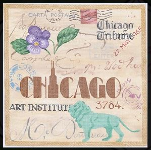 click here to view larger image of Chicago Collage (hand painted canvases)