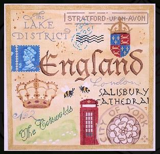 click here to view larger image of England Collage (hand painted canvases)